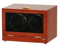 Picture of Double Watch Winder Mahogany Wood w/LCD Dispaly