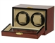 Picture of Double Watch Winder Burl Wood w/LCD Dispaly