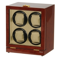 Picture of Four Watch Winder Burl Wood w/LCD Dispaly
