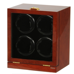 Picture of Four Watch Winder Mahogany Wood w/LCD Dispaly