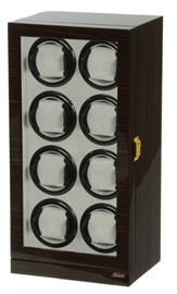 Picture of Eight Watch Winder Ebony Wood w/LCD Dispaly