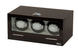Picture of Three Watch Winder Ebony Wood w/LCD Dispaly