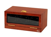 Picture of Three Watch Winder Mahogany Wood w/LCD Dispaly
