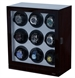 Picture of Nine Watch Winder Ebony Wood w/LCD Dispaly